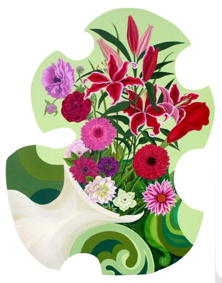 Flower Puzzle by Marina Elphick at the Saffron Walden Gallery
