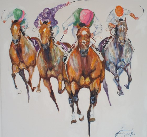 Frankel Champion Stakes by Jacquie Jones at the Saffron Walden Gallery