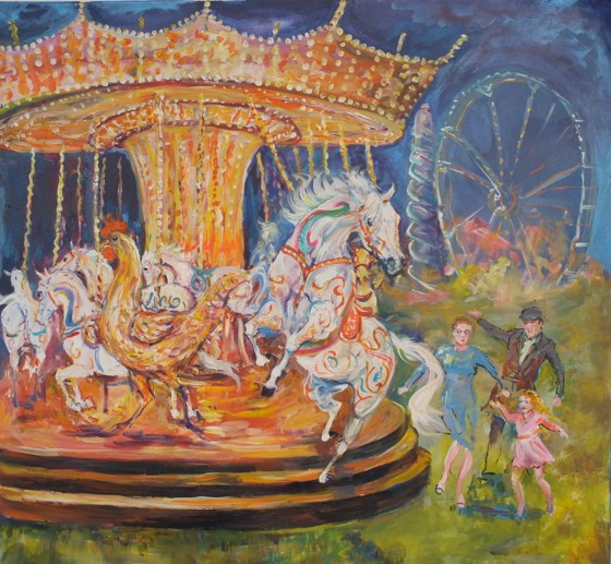 Fairground Attraction by Jacquie Jones at the Saffron Walden Gallery