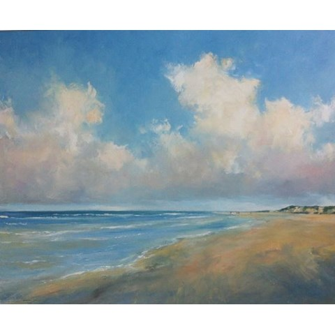 Holkham Beach II by Stephen J Foster at the Saffron Walden Gallery