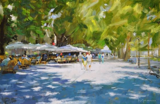 Pool of Light, l'Esplanade Montpellier by Jack Morrocco at the Saffron Walden Gallery
