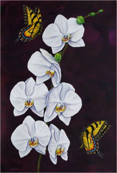 Tiger Swallowtails & Moth Orchid II