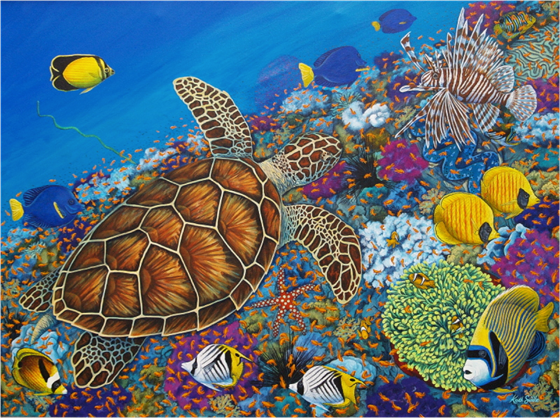 Turtle and the Reef by Keith Siddle at the Saffron Walden Gallery