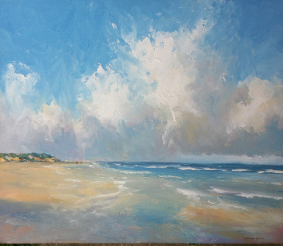 Holkham Beach I by Stephen James at the Saffron Walden Gallery
