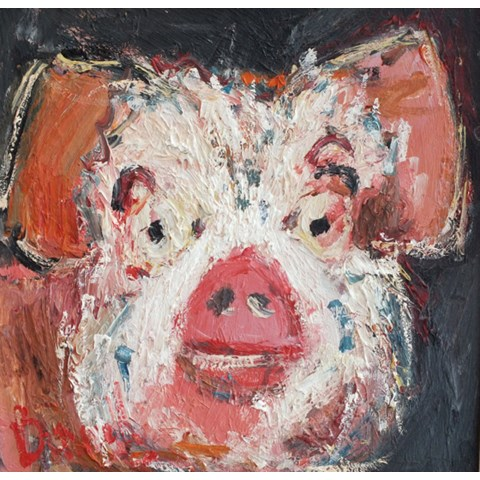 Pig by Deborah Donnelly at the Saffron Walden Gallery