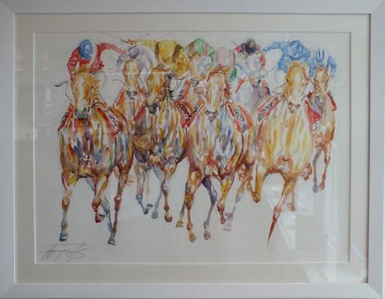 The Final Furlong by Jacquie Jones at the Saffron Walden Gallery