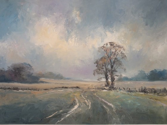 Towards Debden by Stephen James at the Saffron Walden Gallery