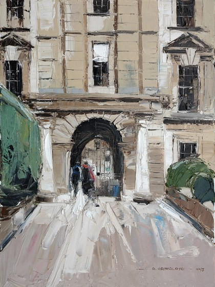 Clare College from The Backs by Daniel Gbenga Orimoloye at the Saffron Walden Gallery