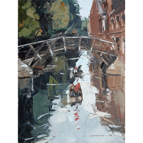 Mathematical Bridge and Queens College by Daniel Gbenga Orimoloye at the Saffron Walden Gallery