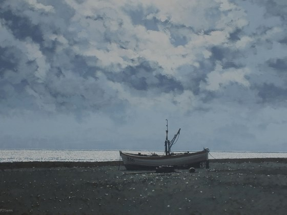 Aldeburgh Beach by Paul J Gunn at the Saffron Walden Gallery