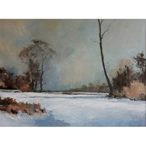Winter Snow Scene by Stephen James at the Saffron Walden Gallery