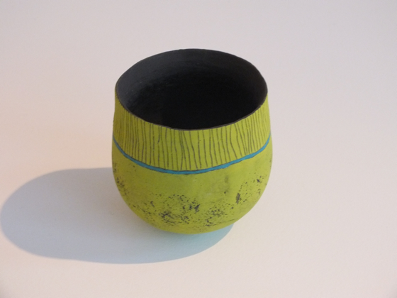Green velvet glaze pot