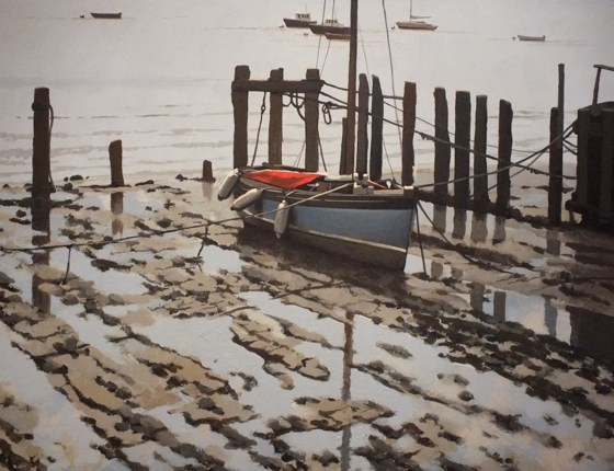 Moorings by Paul J Gunn at the Saffron Walden Gallery