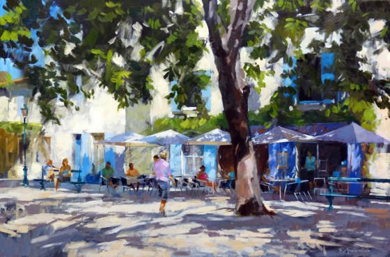 Place Favier, St Remy de Provence by Jack Morrocco at the Saffron Walden Gallery
