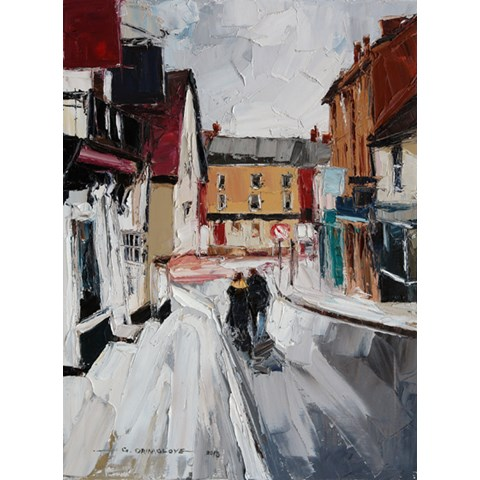 Market Hill, Saffron Walden by Daniel Gbenga Orimoloye at the Saffron Walden Gallery