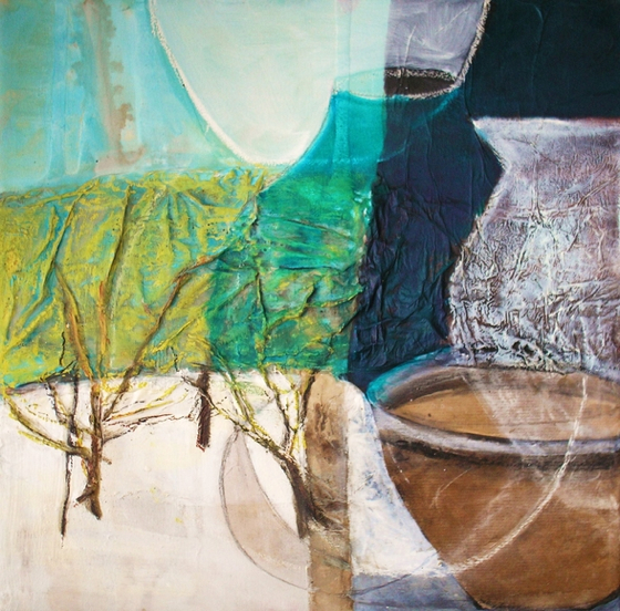 Winter Nearly Over by Gail de Cordova at the Saffron Walden Gallery