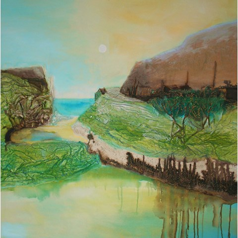 Path to the Sea by Gail de Cordova at the Saffron Walden Gallery