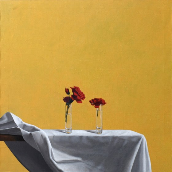 White Cloth, Red Roses by David Paul Gleeson at the Saffron Walden Gallery