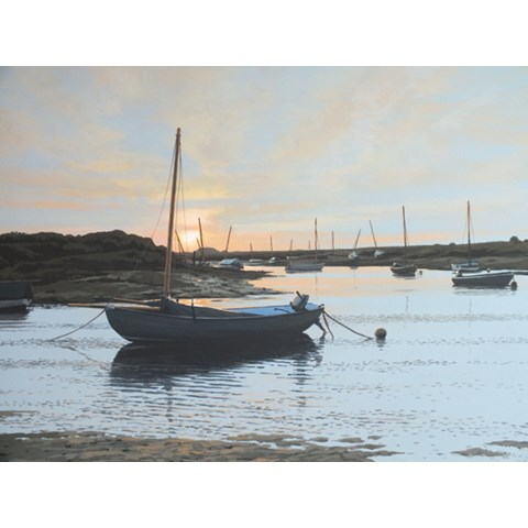 Sunset Over the Creek, Burnham Overy Staithe by  at the Saffron Walden Gallery