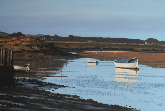 Morning Light, Burnham Overy Staithe by Paul J Gunn at the Saffron Walden Gallery