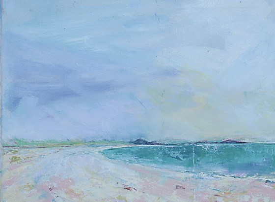 Appletree Bay, Tresco by Sara Bor at the Saffron Walden Gallery
