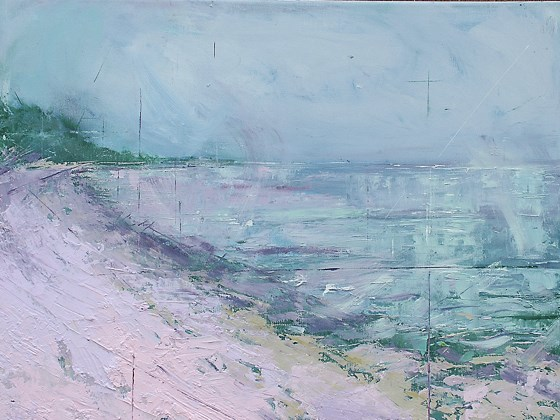 Lyme Bay, Devon by Sara Bor at the Saffron Walden Gallery