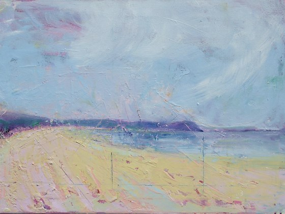 Woolacombe, Devon by Sara Bor at the Saffron Walden Gallery
