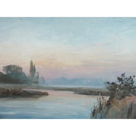 Along the Cam II by Stephen James at the Saffron Walden Gallery