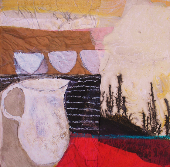 Harvest Jug and Cups by Gail de Cordova at the Saffron Walden Gallery