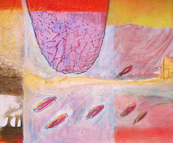 Watermelon Sunset by Gail de Cordova at the Saffron Walden Gallery