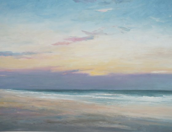 Norfolk Sunset by Stephen James at the Saffron Walden Gallery