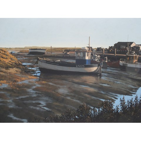Morning, Brancaster Staithe by Paul J Gunn at the Saffron Walden Gallery