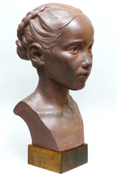 Sakura Earthenware Bust