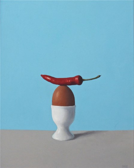 Chilli Egg by David Paul Gleeson at the Saffron Walden Gallery