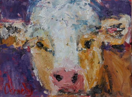 Purple Cow by Deborah Donnelly at the Saffron Walden Gallery