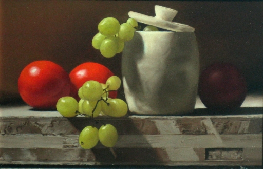 Still Life with Grapes and Tomatoes
