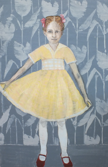 Girl Holding Her Dress by  at the Saffron Walden Gallery