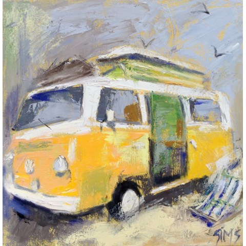 Seaside Camper by Nikki Sims at the Saffron Walden Gallery