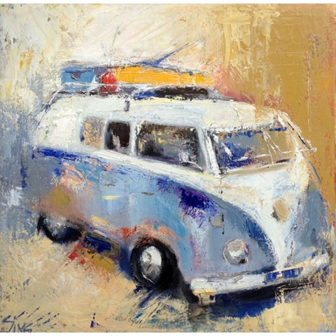 Beachy Camper by Nikki Sims at the Saffron Walden Gallery