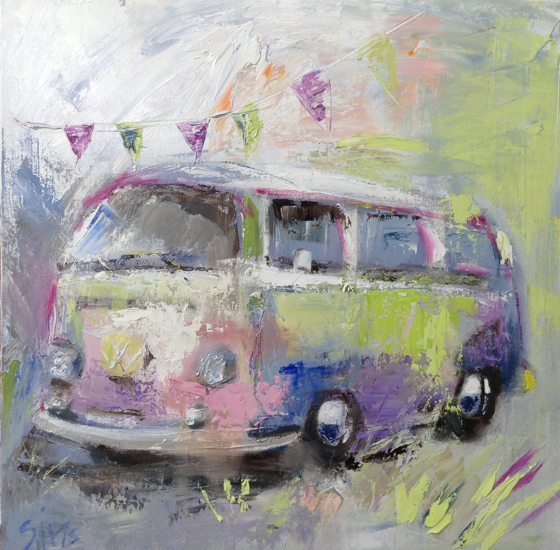 Festival Camper by Nikki Sims at the Saffron Walden Gallery