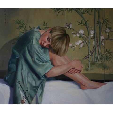 Girl in the Green Kimono by  at the Saffron Walden Gallery