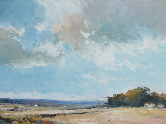 Norfolk Landscape II by Stephen James at the Saffron Walden Gallery