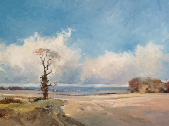 Towards Dereham by Stephen James at the Saffron Walden Gallery