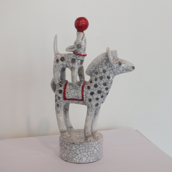 My Dog Ran Away to the Circus by Demelza Whitley at the Saffron Walden Gallery