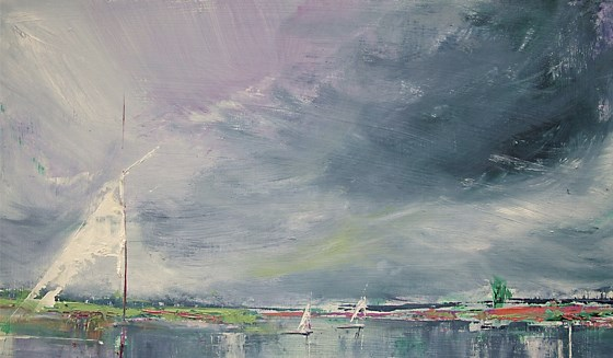 Outen Broad II by Sara Bor at the Saffron Walden Gallery