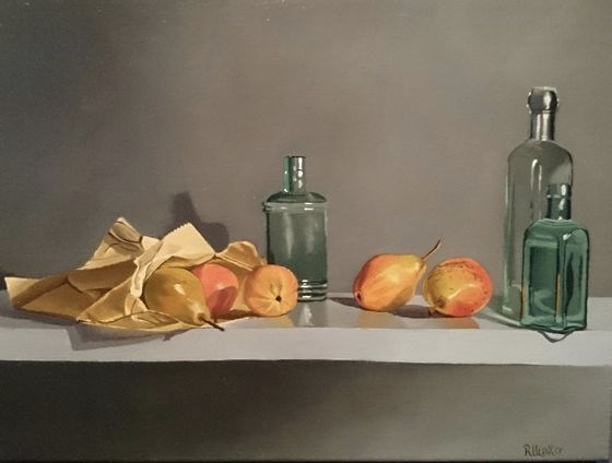 Blush Pears by Robert Walker at the Saffron Walden Gallery