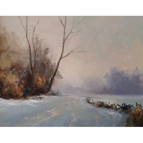 Winter at Wandlebury II by Stephen James at the Saffron Walden Gallery