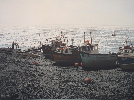 The Fishing Fleet by Paul J Gunn at the Saffron Walden Gallery