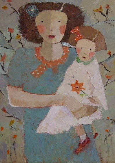 Rose and Flora by Catriona Millar at the Saffron Walden Gallery
