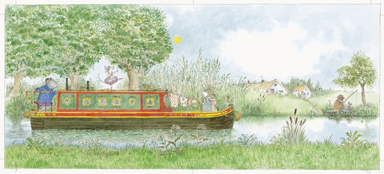 Angelina Star of the Show ........on the canal barge by Helen Craig at the Saffron Walden Gallery